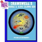 【中商海外直订】Drawswell's Androids and Aliens coloring book