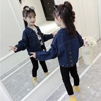 女童牛仔外套2018新款秋装儿童装韩版时尚夹克中大童时髦长袖潮衣