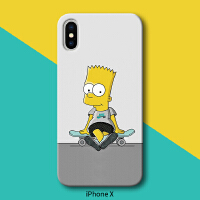 iphone8手机壳磨砂防摔苹果x辛普森7plus欧美卡通6s硅胶5se个性6p i7 plus/i8 plus 软壳