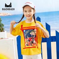 【99选3】巴拉巴拉旗下2019夏季新款女童中大童个性印花时尚潮流短袖T恤B