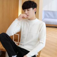 半高领毛衣男春秋韩版潮流打底衫男生青年学生中领针织衫修身毛衫