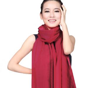 上海故事 秋冬保暖女士羊毛秋冬披肩围巾