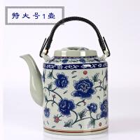 景德镇陶瓷冷水壶套装家用大容量凉水壶水杯老式凉茶壶青花提梁壶