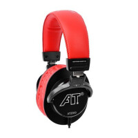 iSK AT2000 专业监听耳机 黑红色 轻便全封闭式设计
