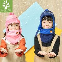 宝宝帽子围巾两件套儿童护耳2018新款保暖帽子围脖套装秋冬