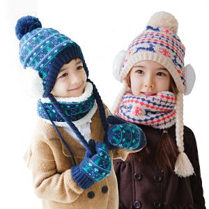 【1件9折 2件8折】韩国KK树宝宝帽子围巾手套三件套男女童秋冬小孩新款帽子保暖套装
