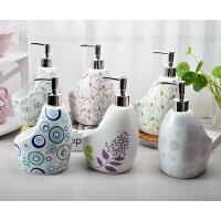 简约时尚 陶瓷乳液器 两用洗洁精分装瓶洗手液瓶子带海绵座沐浴瓶