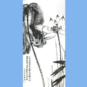 中国现代著名的画家,泼墨画家,书法家张大千(出淤泥而不染)