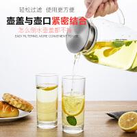 新款天喜冷玻璃耐热高温家用凉白开水杯茶壶套装扎壶大容量凉水壶