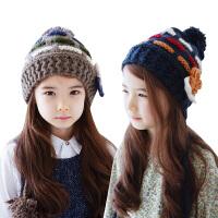 宝宝帽子秋冬韩国儿童帽子秋冬儿童帽子冬小孩帽子冬季女童针织帽