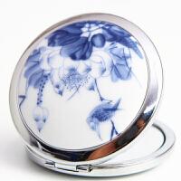 便携小镜子 中国风迷你双面化妆镜古风折叠便携圆形补妆镜实用复古女士随身小镜子