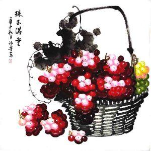 *美术师,河南省美协会员,中国书画名家理事会理事许鲁(珠玉满堂)2