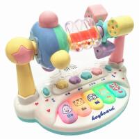 新生儿玩具摇摇铃 新生儿宝宝早教婴儿玩具0-1岁音乐摇铃3-6-7月男女孩1-12个月 乐园 电池版