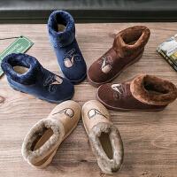 棉拖鞋男士冬季全包跟室内居家用厚底毛毛加绒带后跟冬天保暖棉鞋