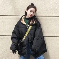 女短款加厚棉袄2019韩版宽松学生面包服棉衣冬季外套 S 建议90斤以下