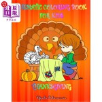 【中商海外直订】Coloring Book_THANKSGIVING For Kids: Thematic Color