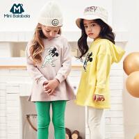 【春新品75折价:135】迷你巴拉巴拉女童长袖套装2020儿童米奇套装迪士尼洋气时髦童装