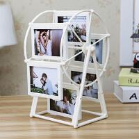 创意DIY手工定制照片风车旋转相框摆台相册结婚纪念韩式浪漫摆件