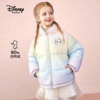 【4折券后价:291.8元】迪士尼童装女童两面穿轻薄羽绒服儿童上衣2021新款外出洋气潮流