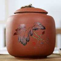 密封罐茶�~罐大�陶瓷茶罐家用普洱茶�~包�b盒便�y茶具茶盒�ξ锕�