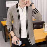 毛衣男士开衫春秋季休闲立领毛线衫修身青年针织衫外套男潮流韩版