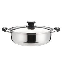 路易菲斯 科麦隆特厚火锅 优质不锈钢 双耳汤锅 电磁炉燃气灶通用-