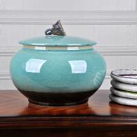 手工陶瓷茶叶罐包装茶叶盒储存普洱七子茶饼缸密封陈茶罐醒茶叶桶