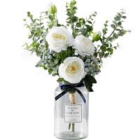 北欧假花仿真玫瑰花束客厅餐桌摆设花装饰仿真花束摆件