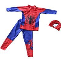 儿童泳衣男童分体长袖长裤蜘蛛侠泳装中大童学生宝宝速干防晒保暖
