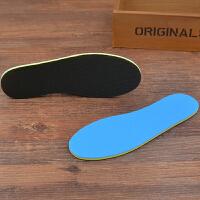 儿童运动鞋垫减震透气吸汗男女童小孩宝宝鞋垫 黑蓝色(3双装) 19-20码/15cm