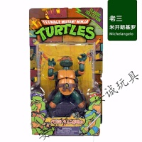 关节可动 1988年经典版忍者神龟人偶玩具模型摆件公仔 礼物