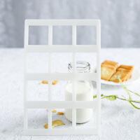 12连正方形/圆形/心形杏仁瓦片酥饼干模巧克力薄片DIY烘焙模具