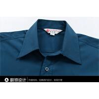 短袖男夏装半袖男士衬衣中老年上衣爸爸装 深灰色# M/建议110到125斤