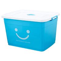 特大号塑料收纳箱衣服被子加厚有盖带轮整理箱汽车杂物储物盒