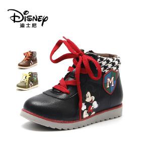 鞋柜/迪士尼童鞋男童靴子短靴冬季加绒儿童雪