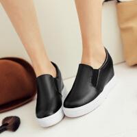 彼艾2018春季新款女鞋新款韩版平底隐形内增高单鞋休闲运动厚底小白鞋女单鞋