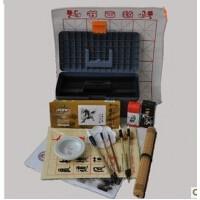 国画颜料工具17件套装颜料画笔 笔墨纸砚俱全 书法毛笔练习文具文房四宝