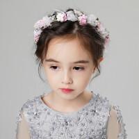 新款儿童饰女孩头饰公主箍韩式花朵头花生日演出礼服花环配饰