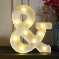 led英文发光字母灯KTV装饰生日布置道具数字灯创意浪漫表白求婚灯