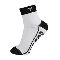 威克多Victor SK135羽毛球袜 专业运动袜毛巾袜 男士短筒棉袜船袜