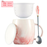 ins北�W式小咖啡杯���w��勺��s杯子陶瓷�R克杯情�H茶隔水杯