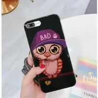 iPhone8手机壳苹果8plus卡通保护套苹果7plus软壳挂绳防摔套 苹果7/8 棒球帽