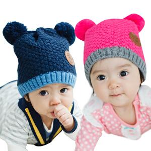【1件9折 2件8折】韩国kk树新生儿套头帽婴儿帽子1-2岁小孩6-12个月宝宝胎帽秋冬款