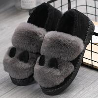 豆豆鞋女冬棉鞋女冬加绒新款韩版毛毛鞋女秋季女鞋冬季一脚蹬