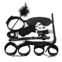 sm情趣刑具十件套女用调情器具男性工具手铐脚链项圈另类玩具用品