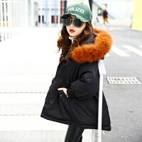 儿童冬季棉衣2018新款棉袄韩版中长款外套女孩棉服