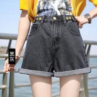 牛仔短裤女2019夏季新款阔腿高腰a字短韩版宽松热裤学生显瘦百搭
