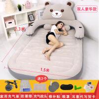 充气床双人家用气垫床单人卡通懒人沙发床龙猫床榻榻米加厚折叠床