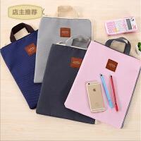 笔记本电脑收纳袋子整理包拉链文件包手提多功能文件袋帆布公文包SN3773