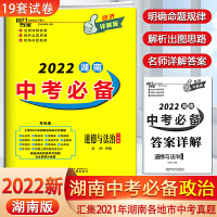 2021版抢分专家湖南中考必备道德与法治(一本全)经济详解版